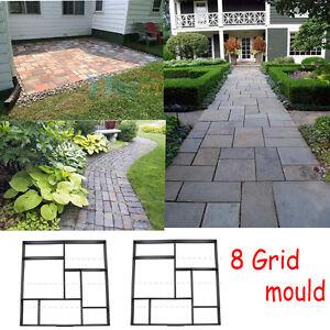 Solid Garden Paving Brick Patio Concrete Slabs Pathmate Mould  Floor Tile Walk