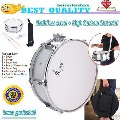 Stainless Steel Marching Snare Drum Set 15.7x6.1