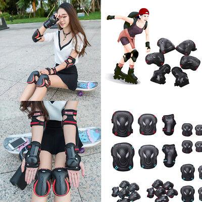 Skating Protective Gear Sets Elbow Knee Pads Bike Skateboard For Adult Kid 6pcs