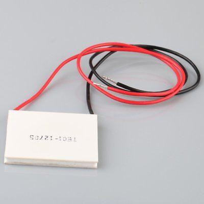 12v 60w 4040mm Thermoelectric Power Generator Heatsink Peltier Module Tec1