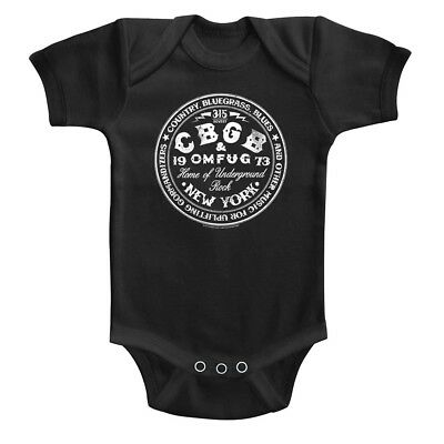 CBGB OMFUG 315 Bowery NYC Punk Rock Baby Body Suit Concert Infant Romper Boy - Nyc Infant Bodysuit