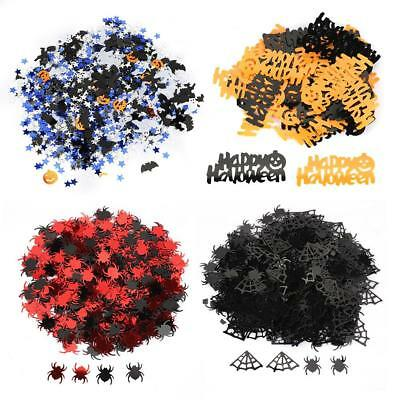 Halloween Symbolic Design Bright Confetti Party Table Scary Decoration Set](Halloween Table Setting Party)