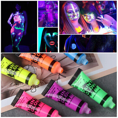 Glow in the Dark Acrylic Luminous Paint Bright Pigment Party Decoration DIY NEW (Diy Glow Paint)