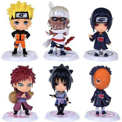 Anime Naruto Set 6 pcs Figures Collection Uzumaki Uchiha Madara PVC Dolls