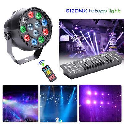 36W RGB 12 LED Par Stage Lighs  DMX Strobe Disco Party wedding  show DJ Lighting