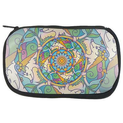 Stained Glass Mandalas (Mandala Trippy Stained Glass Hedgehog Makeup Bag )