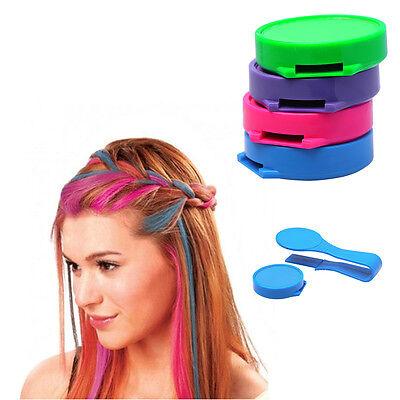 4 Colors Non-toxic DIY Temporary Hair Chalk Special Color Dye Pastels Salon Kit