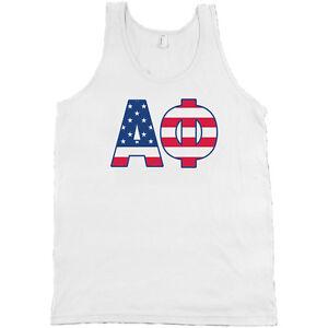 alpha phi american apparel tank top shirt a phi sorority