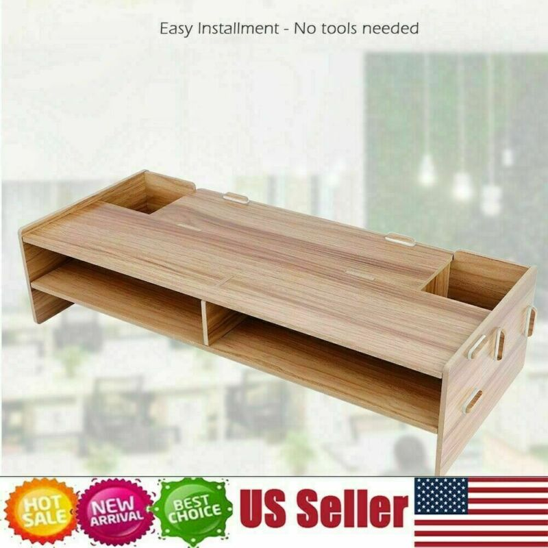 Computer Monitor Riser Save Space Desktop Storage Stand For Kitchen Room Office