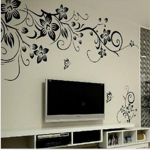 Home Decoration - Tree Leaves Flowers Decor Removable Wall Stickers Bedroom Door Window Art Decal