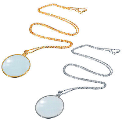 5x Magnifier Jewelry Lens Pendant Loupe Chain Necklace Magnifying Glass Welcome Jewelry & Watches