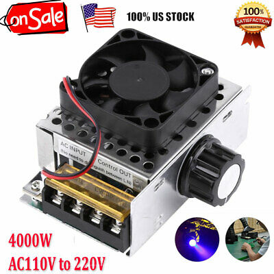 4000w Scr Voltage Regulator Dimmer Motor Speed Control Wfan Ac110v To 220v