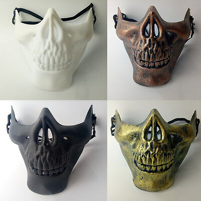 Halloween Totenkopf Ghost Skull Halbmaske Gesichtsmaske Karneval Biker Kostüm - Ghost Gesicht Kostüm
