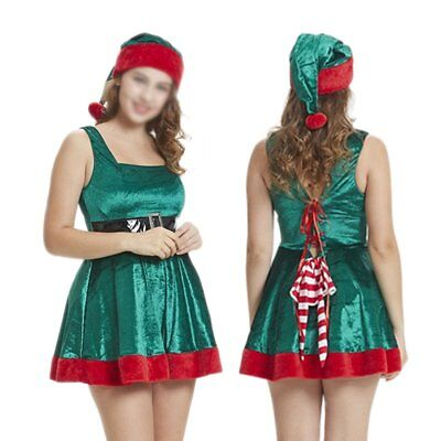 Sexy Santa Outfit Womens Ladies Miss Claus Costume Christmas Party Christmas Elf - Santa Outfit Ladies