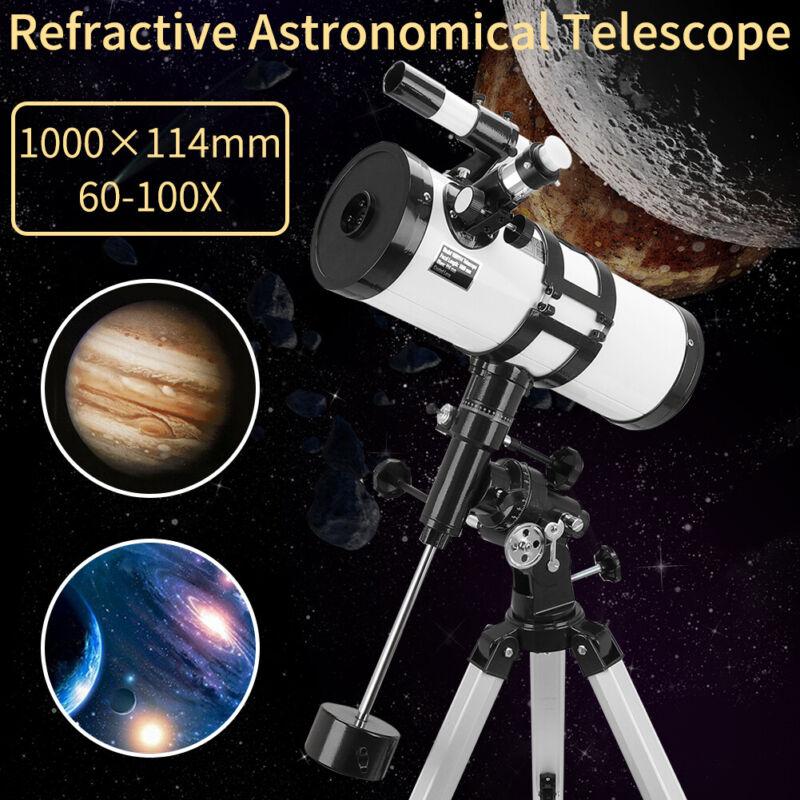 Professional 114mm Astronomical Telescope Deep Space Spotting Scope Telescope