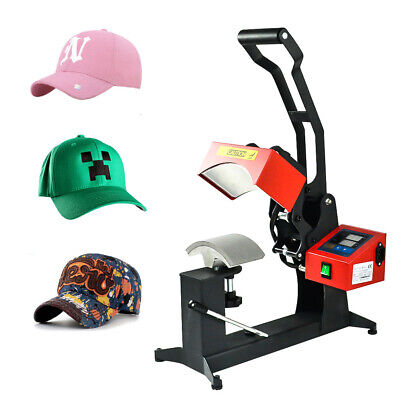 5.53.9 Gas Spring Hat Cap Heat Press Machine Sublimation Clamshell Transfer