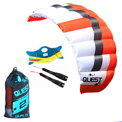 HOT 3m² 2 Line Sports Power Kite with Flying Set Trainer Traction Kite Flying  Fly Traction Kite