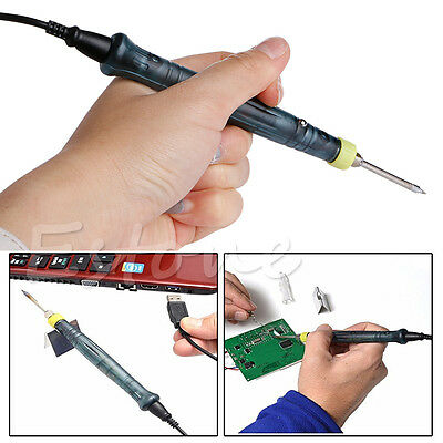 New Professional Mini 5V 8W LED Indicator USB Powered Welding Soldering Iron Kit