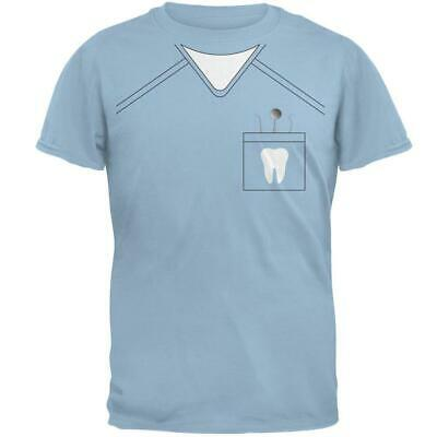 Halloween Dentist Scrubs Costume Light Blue Adult - Halloween Scrubs