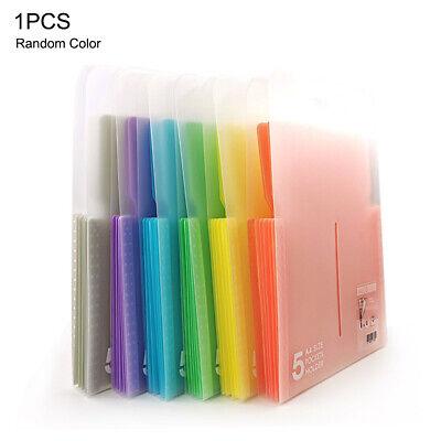 Plastic File Folder Office School Document Bag A4 Stationery Holder Organizer