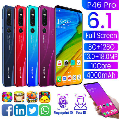 "P46 pro 6,1"" Android 9,1 Smartphone 8GB+128GB Dual-SIM Handy 13 18MP 10 Core DE"