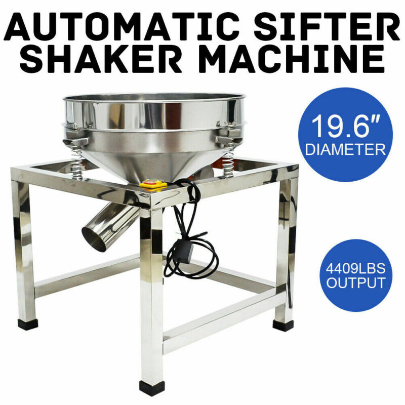 300w Automatic Sifter Shaker Machine 40mesh+100mesh Mucus Class Electric 110v