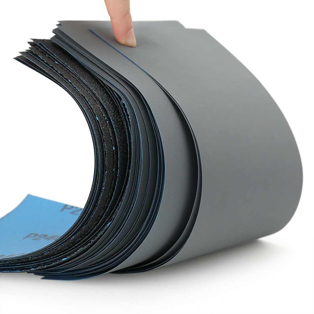 Wet Dry Sandpaper 80 -3000 Grit Assortment 9x3.6'' Abrasive Paper Sheet Sanding 3