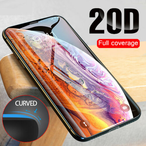 20D Full Coverage Tempered Glass Screen Protector For iPhone 11 Pro Max X Xs Cell Phone Accessories