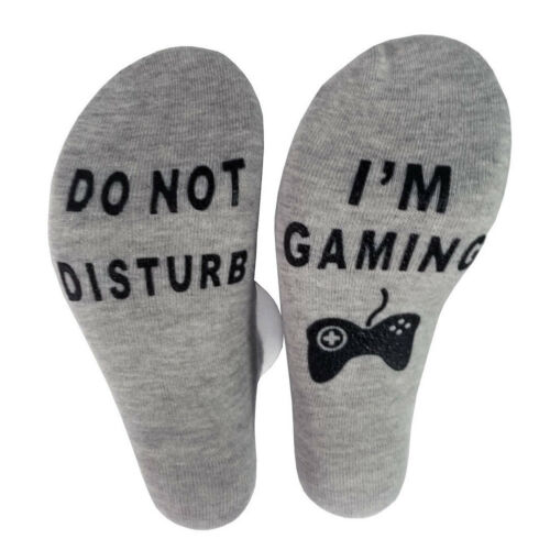 Unisex Novelty Socks Do Not Disturb I Am Gaming Funny Letter Printed Socks