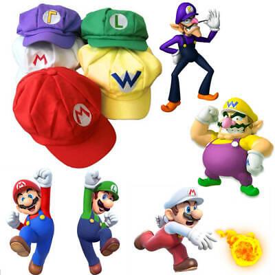 Super Mario Mütze Kostüm Karneval Fasching Cap  - Super Mario Hut Kostüme