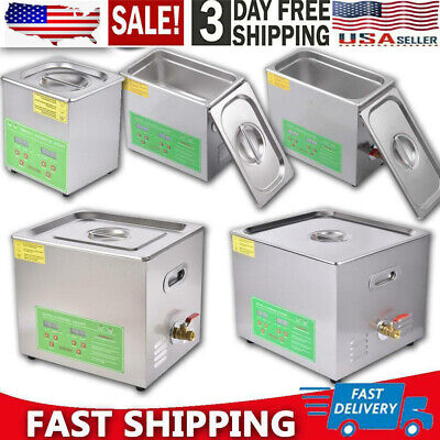2-15l Ultrasonic Cleaner Stainless Steel Industry Heated Heater Wtimer Us Stock