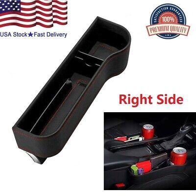 Car Seat Crevice Box PU Storage Cup Holder Organizer Auto Gap Pocket Stowing US