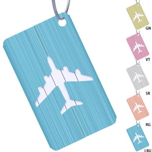 Aluminium Luggage Tags Suitcase Label Address ID Luggage Lab