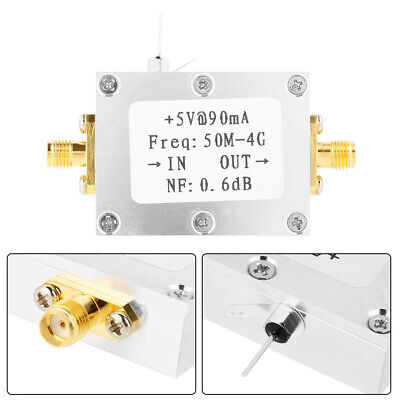 50M-4GHz Banda Ancha Lna RF FM HF VHF / UHF Bajo Ruido...