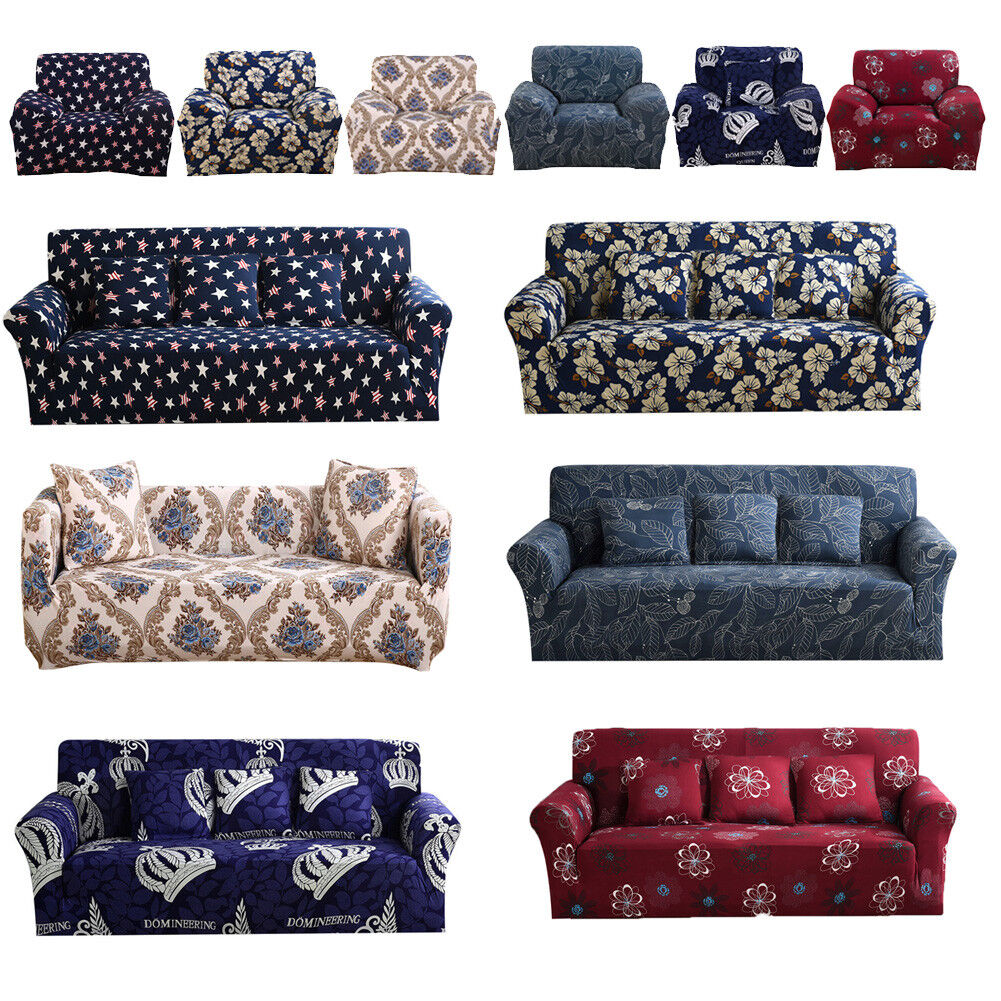 1 2 3 4 Seater Elastic Sofa Cover Slipcover Set Couch Stretch Chair
