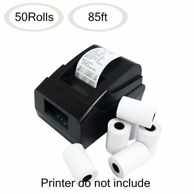 50 Rolls Thermal Paper 2 14 X 85 Credit Card Cash Register Pos Receipt Paper