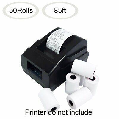 50 Rolls Thermal Paper 2 14 X 85 Credit Card Cash Register Pos Receipt Paper