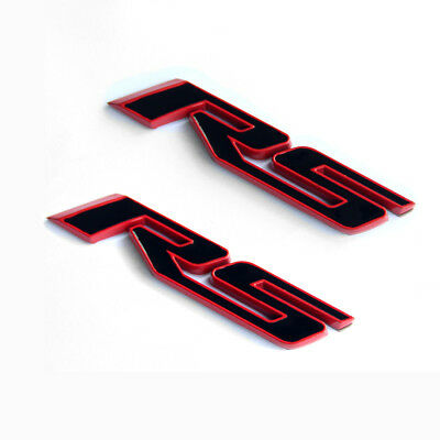 2x OEM Grille SS Emblem Decal SS Badge 3D For Camaro Chevy series Red line Lu