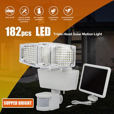 Solar Lights Motion Sensor, 182 LED 1200 Lumens Outdoor Sensor Light