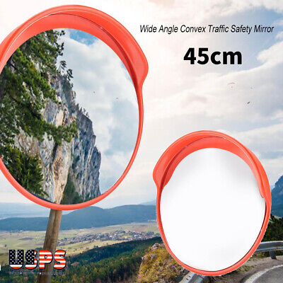 Wide Angle Security Convex Pc Mirror Outdoor Road Traffic Driveway Safety 18
