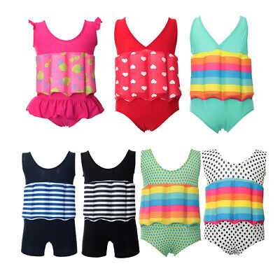 Kid Toddler Girls One Piece Swimwear Float Suit with Buoyancy For Swim Training - Toddler Swimsuits For Girls
