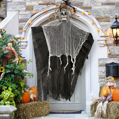 DIY Halloween Skeleton Hanging Ghost Terror Death Props Party Door Home Decor - Halloween Hanging Door Decorations
