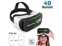 Greatever Bluetooth4.0 3D VR Glasses Virtual Reality Headset VR Box with Adjustable Lens