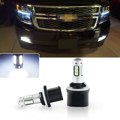 2pcs High Power Bright White 880 LED Fog Lights Bulbs For Chevy Tahoe 2000-2006