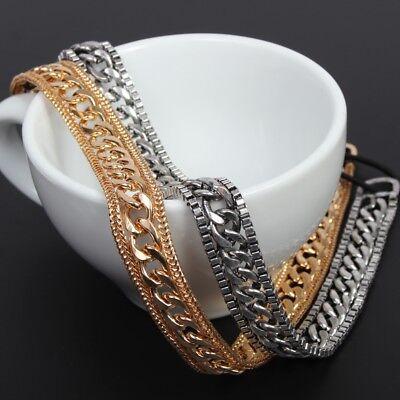 Hochwertiges Luxus Haarband Metall Haargummi Kopfband Stirnband Haarkette Stabil