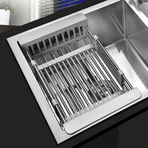 Stainless Steel Dish Drying Rack Telescopic Filter Basket Ki