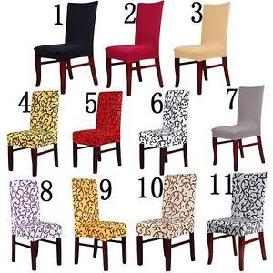 Chaud stretch court housse de chaise salle manger for Housse de chaise salle a manger