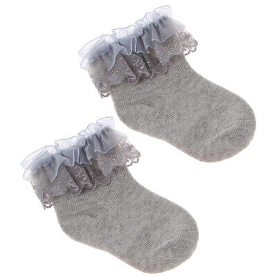 Newborn Baby Girl Solid Color Breathable Cotton Elastic Princess Lace Sock Mgic Baby