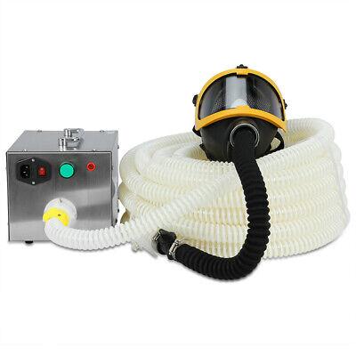 110v Long Tube Flow Supplied Fresh Air Respirator System Full Face Gas Mask
