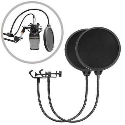 2PCS Neewer Studio Microphone Mic Wind Screen Pop Filter Mask Shied USA